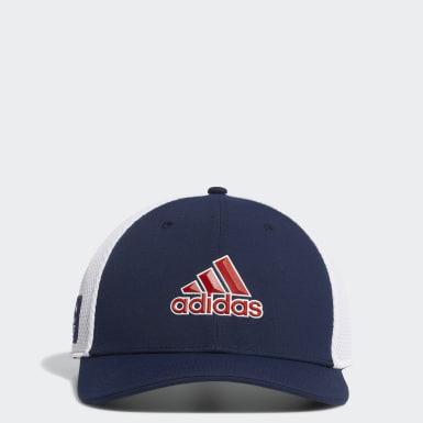 Men Golf Blue USA Golf A-Stretch Cap