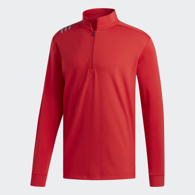 Men's Golf Red 3-Stripes Core 1/4 Zip Sweatshirt