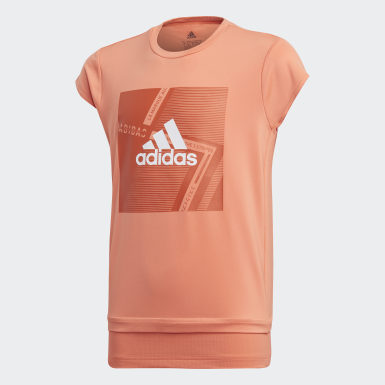 Girls Yoga Orange Branded Tee