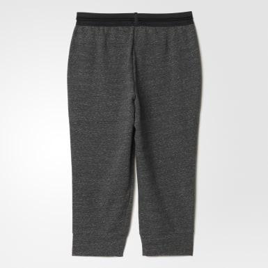 черный Укороченные брюки Cotton Fleece