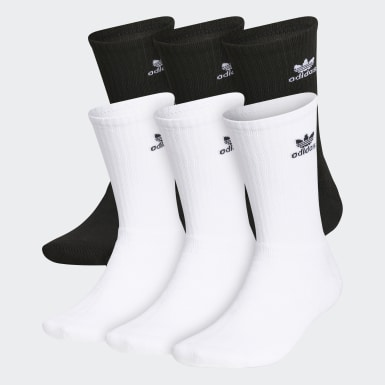 Men's Originals Black Trefoil Crew Socks 6 Pairs