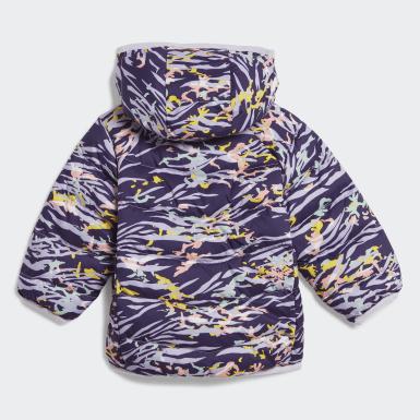 фиолетовый Пуховик