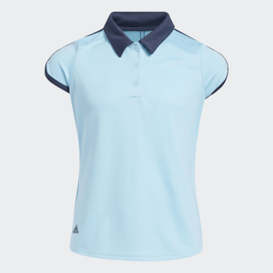 Girls Golf Blue Colorblock Polo Shirt