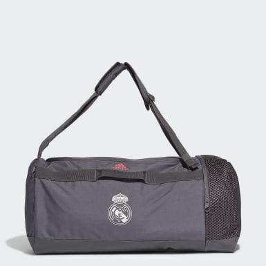 Fußball Real Madrid Duffelbag M Grau