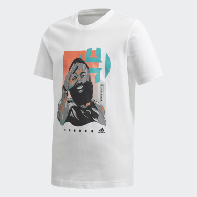 Kids Basketball White Harden Geek Up Tee