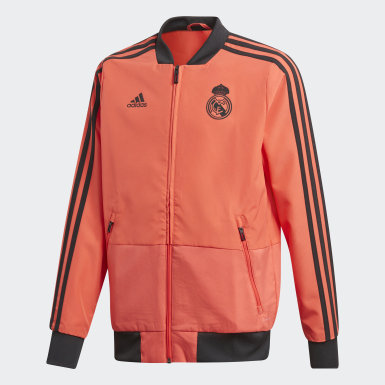 Kinder Fußball Real Madrid Ultimate Präsentationsjacke Rot