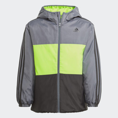 Jungen Training Colorblock Insulated Jacke Grau
