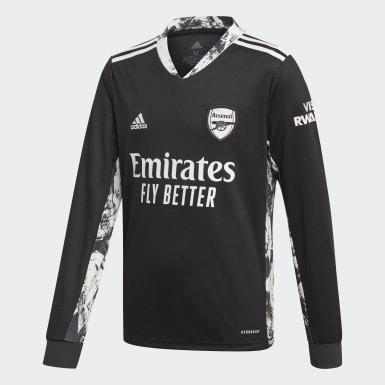 Camisola Principal de Guarda-redes do Arsenal Preto Criança Futebol