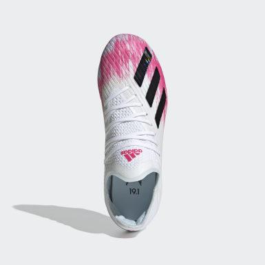 Børn Fodbold Hvid X 19.1 Firm Ground støvler