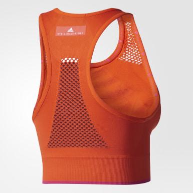 Top THE Seamless Naranja Mujer adidas by Stella McCartney