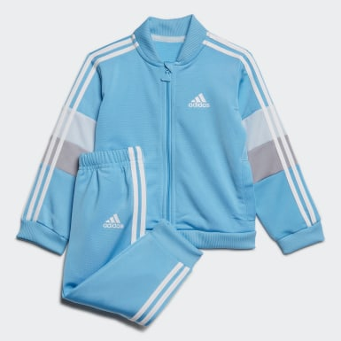 Kids Training Turquoise Shiny Track Suit