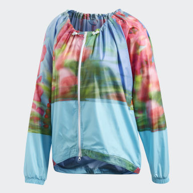 Women adidas by Stella McCartney Blue Run Adizero Printed Jacket