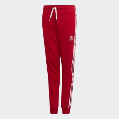 Børn Originals Rød 3-Stripes bukser