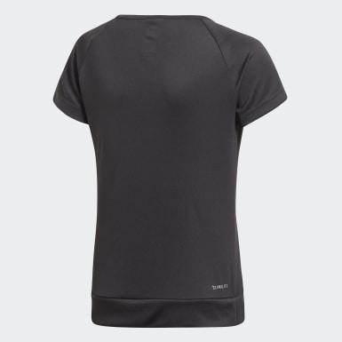 Meisjes Training Zwart Gear Up T-shirt