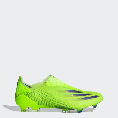 Bota de fútbol X Ghosted+ césped natural seco Verde Fútbol