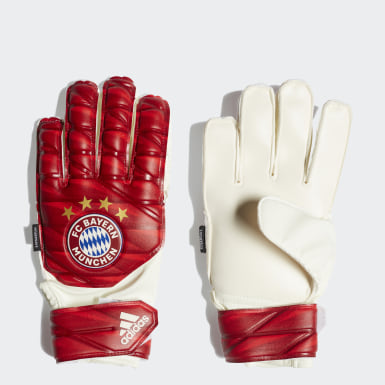 Kids Football Red FC Bayern Top Training Fingersave Gloves