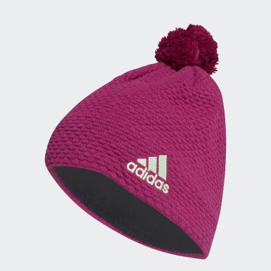 Winter Sports Burgundy Graphic Beanie