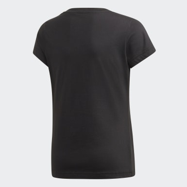 Mädchen Athletics Essentials Linear T-Shirt Schwarz