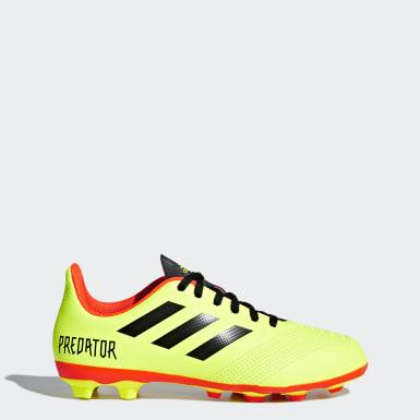 Kids Football Yellow Predator 18.4 Flexible Ground Boots