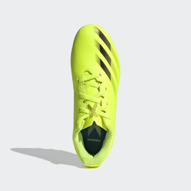 Boys Football Yellow X Ghosted.4 Flexible Ground Boots