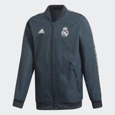 Kinder Fußball Real Madrid Anthem Jacke Grau