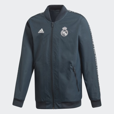 Veste Real Madrid Anthem Gris Enfants Football