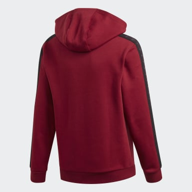 Kids Originals Burgundy Tape Hoodie