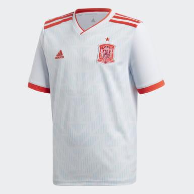 Kinder Fußball Spanien Auswärtstrikot Weiß