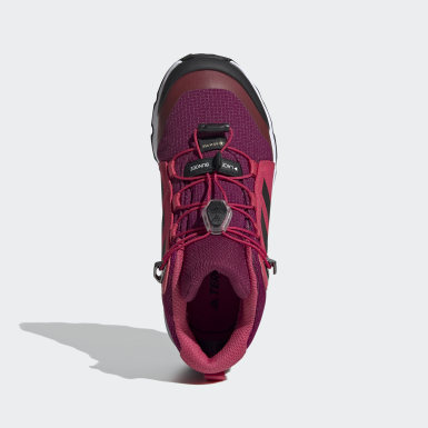 Kids TERREX Burgundy Terrex Mid GORE-TEX Hiking Shoes