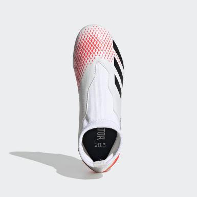 Boys Fodbold Hvid Predator 20.3 Firm Ground støvler