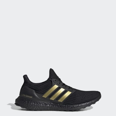 Men Running Black Ultraboost DNA Shoes