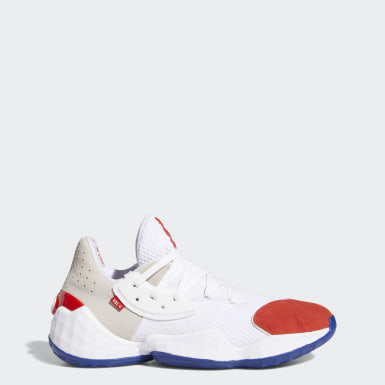 Men's Basketball White Harden Vol. 4 Question Shoes