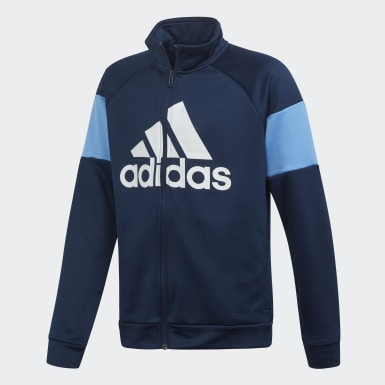Boys Training Blue Badge of Sport Tracksuit