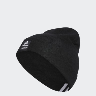 Men Training Black Amplifier Beanie