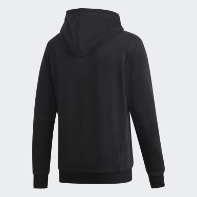 Men Sport Inspired Black Must Haves Badge of Sport Hoodie