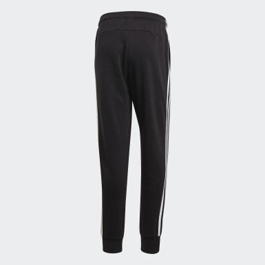 Pantalón Cónico Puño Ajustado Essentials 3 Tiras Negro Hombre Athletics