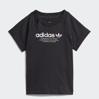 T-shirt Adicolor Graphic Noir Enfants Originals
