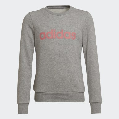 Girls Athletics Grey Linear Sweatshirt