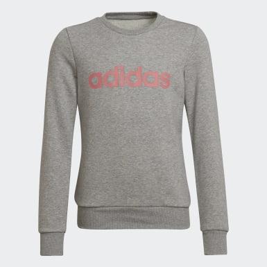 Sweat-shirt Linear Gris Filles Athletics