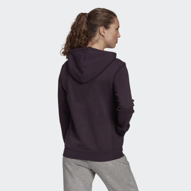Women's Essentials Purple Essentials Linear Pullover Hoodie