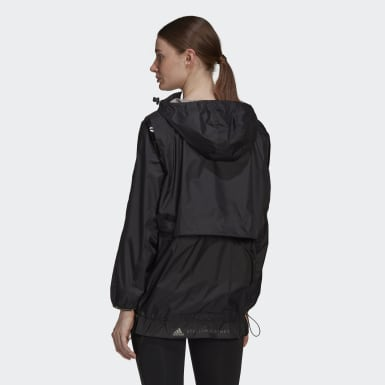 Women adidas by Stella McCartney Black adidas by Stella McCartney TruePace Run Jacket WIND.RDY