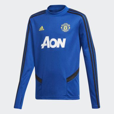 Kinderen Voetbal Blauw Manchester United Trainingsshirt