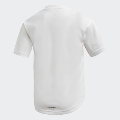 Meisjes Training Wit Cotton T-shirt