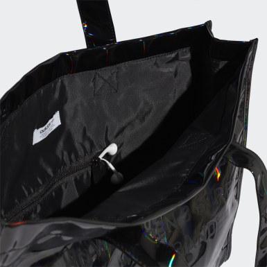 ผู้หญิง Originals สีดำ กระเป๋าช้อปปิ้งเมทัลลิก