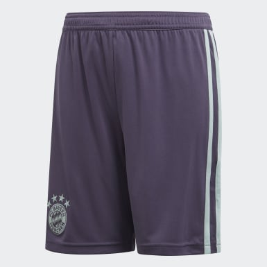 Kids Football Purple FC Bayern Away Shorts