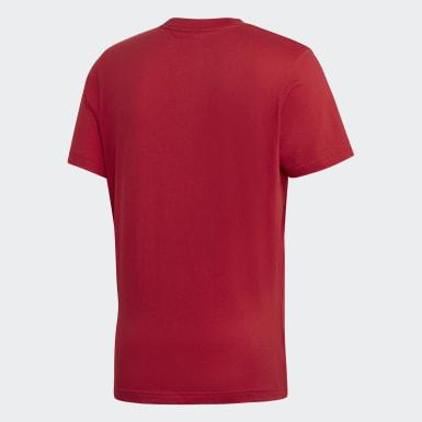 Camiseta Palmeston Vermelho Homem Originals