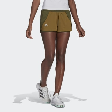Women's Tennis Green Tennis Match Shorts