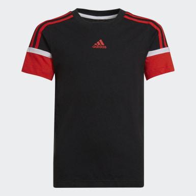 Boys Træning Sort Bold T-shirt
