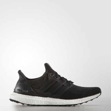 Men Running Black UltraBoost OG Shoes