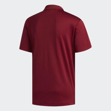 Men Golf Burgundy Performance Polo Shirt
